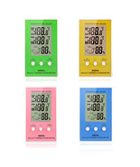LCD Digital Thermometer Hygrometer Temperature Humidity Meter w Wired Ex... - $7.22