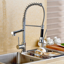 Wholesale and Retail New Double Swivel Spout Spring Kitchen Sink Faucet ... - $90.72