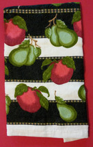 APPLE PEAR KITCHEN SET 4-pc Towels Pot Holders Fruit Apples Pears Green Red NEW image 4
