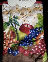 FRUIT theme OVEN MITT POTHOLDERS 3-pc Set Brown Red Grapes NEW image 4