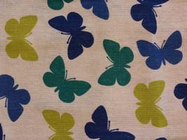 BUTTERFLY TEA TOWELS Set of 2 Blue Green Butterflies Kitchen Towel NEW image 5