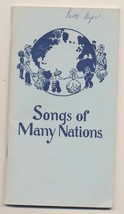 Vintage Song Book Songs of Many Nations Cooperative Recreation Service - $8.91
