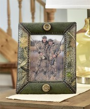 "10.2"" Camo Design Hunting Photo Frame Faux Leather Camo Wrap Holds 7""x5"" Photo"