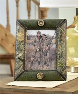 """10.2"""" Camo Design Hunting Photo Frame Faux Leather Camo Wrap Holds 7""""x5""""... - $38.60"""