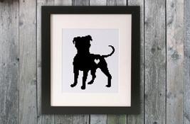 Cross Stitch Pattern Black Dog - $4.00