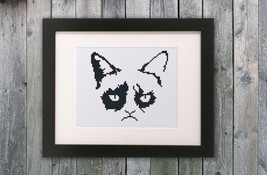 Cross Stitch Pattern Grumpy Cat - $4.00