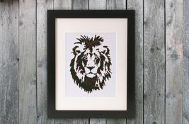 Cross Stitch Pattern Lion - $4.00