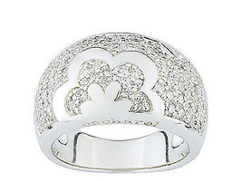 Ring Cacharel with flower, rectangles and stones (CSR231Z) Sterling Silv... - £66.38 GBP