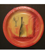 "WINE theme PAPER PLATES Set of 8 Chardonnay White Wines Appetizer 7"" Dri... - $4.99"