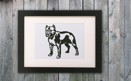 Cross Stitch Pattern Pitbull - $4.00