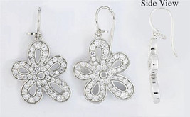 Earrings Cacharel with Flower, for all occasions (CSW259Z) Sterling Silv... - $99.99