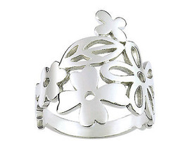 Ring simple with many flowers (CAR079), Sterling Silver 0,925 - £32.61 GBP