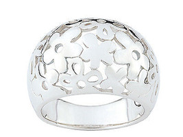 Ring simple simple with many flowers (CAR232), Sterling Silver 0,925 - £39.97 GBP