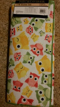 OWL theme KITCHEN LINENS SET 3-pc Drying Mat Towel Cloth Spring Green Owls NEW image 4