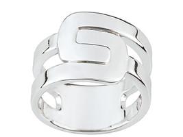 Ring Cacharel simples articulated (CAR243), Sterling Silver 0,925 - £41.12 GBP
