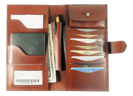 Best Travel Wallet and organizer Leather Travel Wallet Leather Passport ... - £66.21 GBP