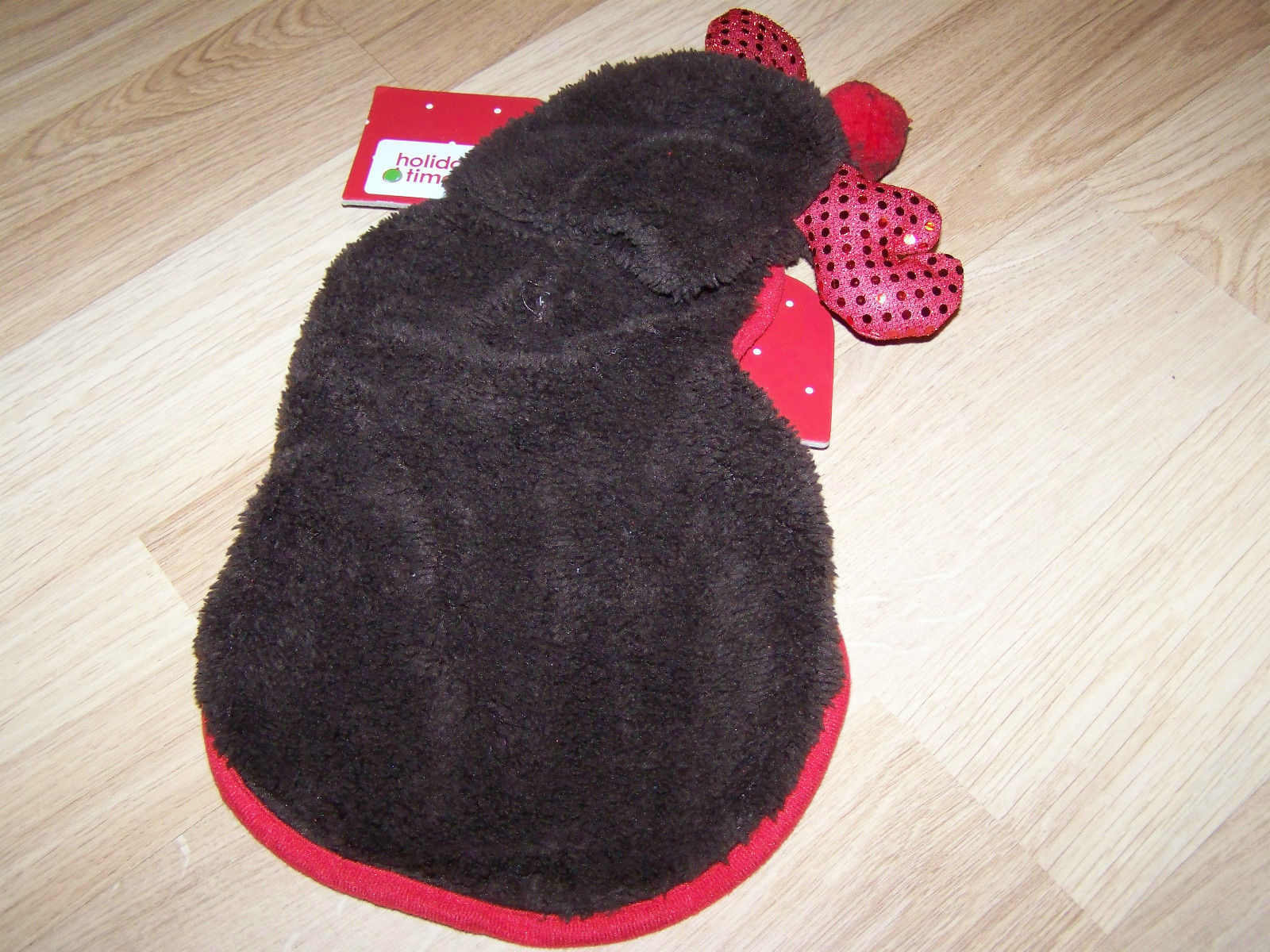"Size Small 12-13"" Rudolph the Red Nosed Reindeer Dog Pet Costume Toy Poodle New"