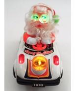 1983 Son Ai Toys Bump & Go Lighted Musical Psycho Santa Claus Driving Bu... - $48.96