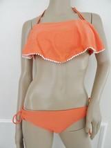 NWT Raisins Shaila Bandeau Flounce Bikini Swimsuit Sz M Medium D Cup Cor... - $26.68