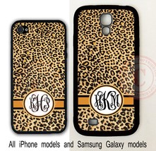 CUSTOMIZED MONOGRAM CHEETAH LEOPARD FOR IPHONE 7 6S SE 5S SAMSUNG GALAXY... - $11.99+