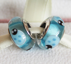 2pcs Blue Ladybug Murano Glass Charms Beads For European Bracelets - $15.99