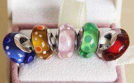 5pcs Bubble Murano Glass Charms Beads For European Bracelets - $28.99