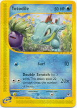 Totodile 135/165 Common Expedition Pokemon Card - $0.69