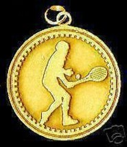 Gold Plated Solid Tennis Player Faith God Charm Pendant - $40.23