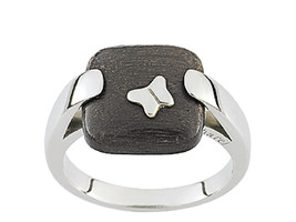 Ring Cacharel simple with squere and butterfly (CNR146M), Sterling Silve... - £31.90 GBP
