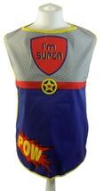 POW I'M SUPER STARS POLKA DOTS RED BLUE GREY 100% COTTON KITCHEN APRON 5... - $21.87