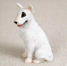 BULL TERRIER (WHITE) TINY ONES DOG Figurine Statue Pet Lovers Gift Resin - $8.99