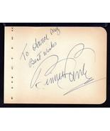 BINNIE BARNES Signed Autograph album page - $17.82