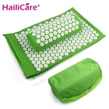 Massager cushion Acupressure Mat Relieve Stress Pain Acupuncture with Pi... - $30.84