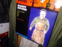 BLOODY BUTCHER, HALLOWEEN COSTUME, TEXAS CHAINSAW MASSACRE NEW OSFM MEN - $38.61