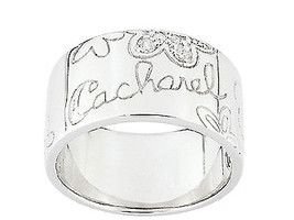 Ring with name of Cacharel and flowers (CSR139Z), Sterling Silver 0,925 - £49.95 GBP