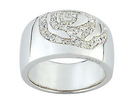 Ring Cacharel simple with stones(CSR201Z), Sterling Silver 0,925 - £59.25 GBP