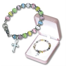 BABY'S FIRST BRACELET WITH CROSS CHARM - $14.95
