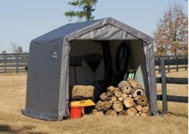 """ShelterLogic 10×10×8 Peak Style  Shed, 1-3/8"""" Frame, Grey Cover (model 7... - $265.95"""
