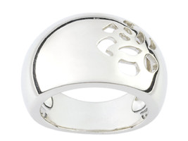 Ring Cacharel simple with holes forming a flower (CAR126), Sterling Silv... - £41.82 GBP