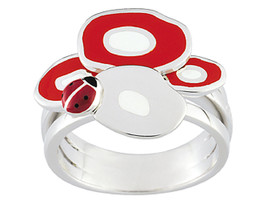 Ring Cacharel with round shape and ladybug (CLR156W), Sterling Silver 0,925 - £52.42 GBP