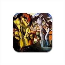 Metamorphose De Narcisse Salvador Dali Non-Slip Drink/Beer Coaster Set - $6.74