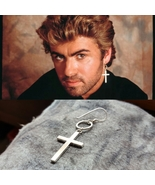 George Michael - Tribute Cross Earring - Remembrance - Sterling Silver -... - $38.00