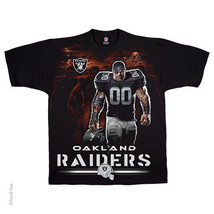 Oakland Raiders New With Tags Tunnel T-Shirt Black Shirt Nfl Team Apparel 3X 4X - $21.99