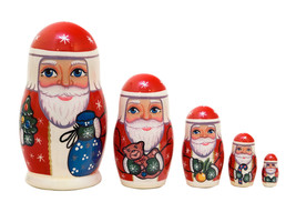 """Father Frost Nesting Doll - 4"""" w/ 5 Pieces - $26.00"""