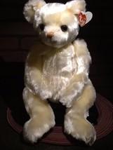 "Vintage - TY Beanie Baby Plush - Yesterbear Cream 17"" Teddy - 1999 - $8.99"