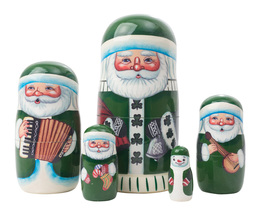 "Irish Santa Nesting Doll - 5"" w/ 5 Pieces - $40.00"
