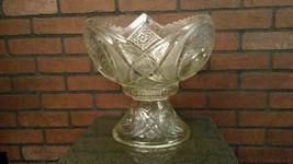 LE Smith McKee Aztec Cut Glass Punch Bowl, Base... - $117.95