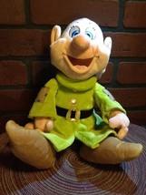 "Disney Theme Parks Snow White Seven Dwarfs Dopey 12"" Plush - $16.85"