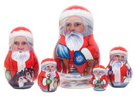 "Yukon Santa Nesting Doll - 5"" w/ 5 Pieces - $44.00"