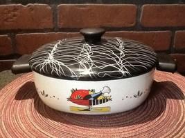 Vintage Rare Retro Enamel Cookware 1950's Seren... - $32.95